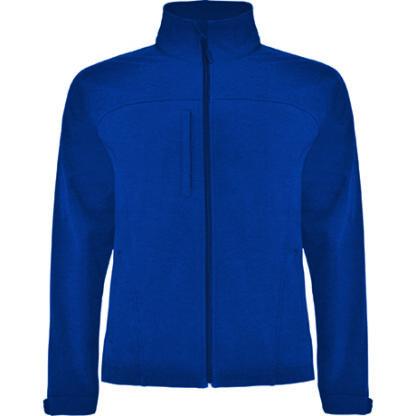 chaqueta azul de soft shell